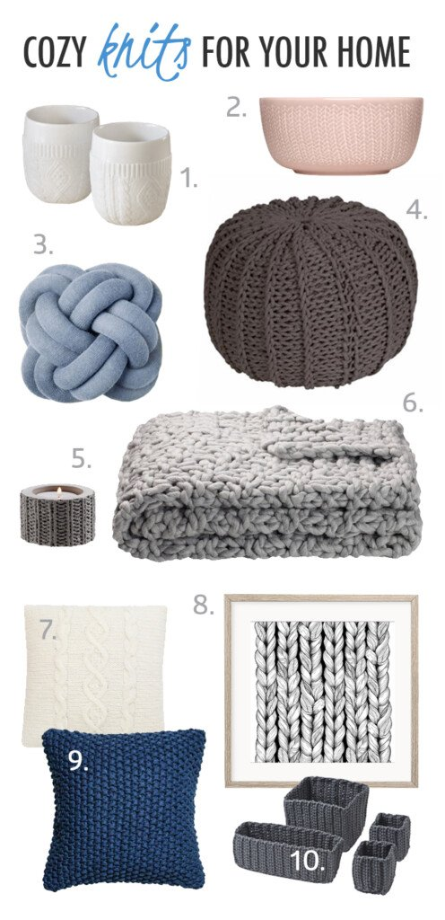 Knitting Household Items : How to add cozy knitted decor items in your home with